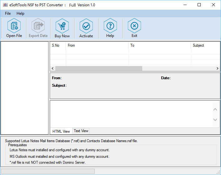 Free conversion NSF file